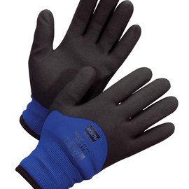 Honeywell Size 8 Black And Blue NorthFlex™/Cold Grip™ Nylon And PVC Nylon/Synthetic Lined Cold Weather Gloves