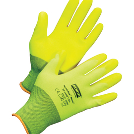 Honeywell Size 8 NorthFlex Neon™ 15 Gauge Hi-Viz Yellow Foam PVC 3/4 Dip Coated Work Gloves With Hi-Viz Yellow Nylon Liner And Knit Wrist