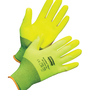 Honeywell Size 7 NorthFlex Neon™ 15 Gauge Hi-Viz Yellow Foam PVC 3/4 Dip Coated Work Gloves With Hi-Viz Yellow Nylon Liner And Knit Wrist