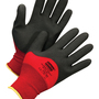 Honeywell Size 8 NorthFlex Red X™ 15 Gauge Black Foam PVC 3/4 Dip Coated Work Gloves With Red Nylon Liner And Knit Wrist