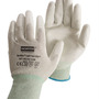 Honeywell Size 6 NorthFlex Light Task ESD™ 15 Gauge Gray Polyurethane Palm And Fingertip Coated Work Gloves With White Thunderon® Liner And Knit Wrist