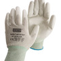 Honeywell Size 9 NorthFlex Light Task ESD™ 15 Gauge Gray Polyurethane Palm And Fingertip Coated Work Gloves With White Thunderon® Liner And Knit Wrist