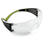 3M™ SecureFit™ Clear, Black And Green Safety Glasses With Clear Anti-Fog Lens