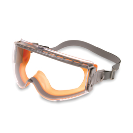 Honeywell Uvex Stealth® Indirect Vent Chemical Splash Impact Goggles With Orange Low Profile Frame And Clear HydroShield® Anti-Fog Lens