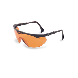 Honeywell Uvex Skyper Black Safety Glasses With SCT Orange Anti-Fog Lens on white background