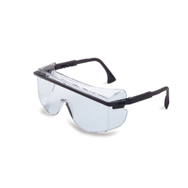 Honeywell Uvex Astrospec OTG 3001 Black Safety Glasses With Clear Anti-Fog/Anti-Scratch/Hard Coat Lens on white background