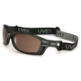 Honeywell Uvex Livewire™ Matte Black Safety Glasses With SCT-Gray Uvextreme Plus® Anti-Fog Lens