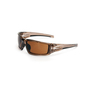 Honeywell Uvex Hypershock™ Smoke Brown Safety Glasses With Espresso Uvextreme Plus® Anti-Fog Lens