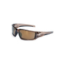 Honeywell Uvex Hypershock™ Dielectric Wrap-Around Smoke Brown Safety Glasses With Gold Anti-Scratch/Hard Coat/Mirror Lens