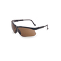 Honeywell Uvex Genesis® Black Safety Glasses With Espresso Anti-Scratch/Hard Coat Lens (Lead time for this product may be longer than normal.)