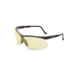 Honeywell Uvex Genesis® Black Safety Glasses With Amber Anti-Scratch/Hard Coat Lens