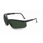 Honeywell Uvex Genesis® Black Safety Glasses With Shade 5.0 Infra-dura® Anti-Scratch/Hard Coat Lens (Lead time for this product may be longer than normal.)