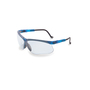 Honeywell Uvex Genesis® Blue Safety Glasses With Clear Anti-Scratch/Hard Coat Lens (Lead time for this product may be longer than normal.)