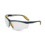 Honeywell Uvex Genesis X2® Black And Yellow Safety Glasses With Clear Anti-Scratch/Hard Coat Lens