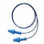 Honeywell Howard Leight®/SmartFit® Flange Thermoplastic Elastomer Corded Earplugs (Polybag) With PVC Cord And Steel Ring