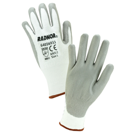 Radnor® Medium 13 Gauge High Performance Polyethylene Cut Resistant Gloves With Polyurethane Coating
