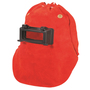 Honeywell Fibre Metal® 870 Red Leather Vented Lift Front Welding Hood With 2