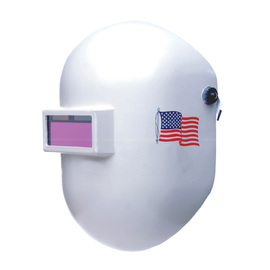Honeywell Pipeliner™ 110 White Fiberglass Fixed Front Welding Helmet With 2