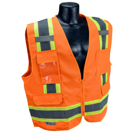 Radians, Inc. 2X Hi Viz Orange RadWear™  Polyester Woven Twill Vest