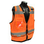 Radians, Inc. Medium Hi Viz Orange RadWear™  Polyester Mesh/Polyester Woven Twill Vest