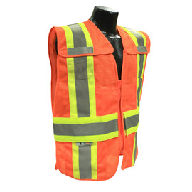 Radians, Inc. Medium - Large Hi Viz Orange RadWear™  Polyester Mesh Vest