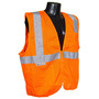 Radians, Inc. Medium Hi Viz Orange RadWear™  Self Extinguishing Polyester Mesh Vest