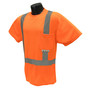 Radians, Inc. X-Large Hi-Viz Orange RadWear™ Max-Dri Moisture Wicking Birdseye Mesh T-Shirt
