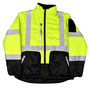 Radians, Inc. Medium Green/Gray RadWear™ Water And Wind Resistant Diamond Ripstop 100% Polyester Reversible Jacket