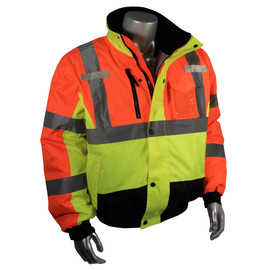 Radians, Inc. Large Hi-Viz Multi Color RadWear™ Water And Wind Resistant DWR Coated 100% Polyester/300D Oxford Jacket