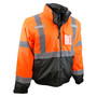 Radians, Inc. Medium Hi Viz Orange RadWear™  Water And Wind Resistant Polyester Oxford 3-in-1 Bomber Jacket Removable Liner