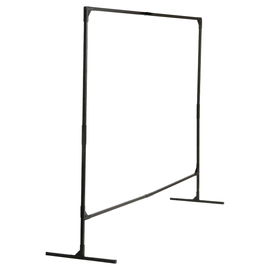 WILSON® 5.71 ft H X 70.1 ft W 1 in Black Steel Welding Screen Frame