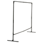 WILSON® 3.954 ft H X 27.5 ft W 1 in Black Steel Welding Screen Frame