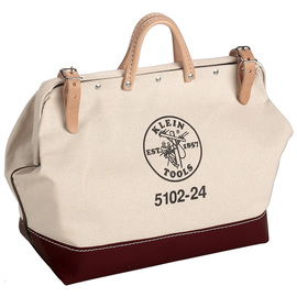 Klein Tools 24'' X 6'' X 15'' Beige Canvas Tool Bag