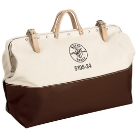Klein Tools 24'' X 6'' X 15'' Brown And Tan Canvas Tool Bag