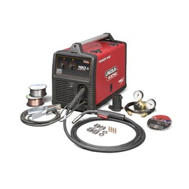 Lincoln Electric® Power MIG® 180C MIG Welder 208/230Volt With Magnum® PRO 100L Gun With 10' Leads, Work Cable And Clamp, Gas Regulator And Hose