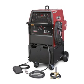 Lincoln Electric® Precision TIG® 275 Ready-Pak® TIG Welder, 208/230/460 Volt With Under-Cooler Cart Water Cooler, Foot Amptrol®, PTW-20 Pro-Torch™ TIG Torch With 25' Cable, 15' 2/0 Work Cable And Clamp, Gas Regulator/Flow meter And 10' Hose Kit, Parts Kit, 2 Water Hoses, Torch Adapter And Zippered Torch Cover