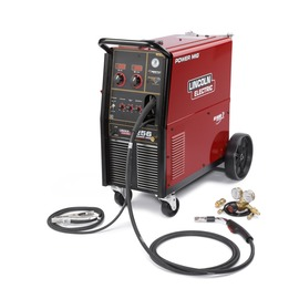 Lincoln Electric® Power MIG® 256 MIG Welder 230/460/575Volt With Magnum® PRO 250L Gun With 15' Leads, Built-In Undercarriage, Work Cable And Clamp, Gas Regulator And Hose Kit