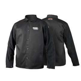 Lincoln Electric® X-Large Black 9 Ounce Cowhide Split Flame Resistant Welding Traditional Jacket With Adjustable Dual Snap Sleeves