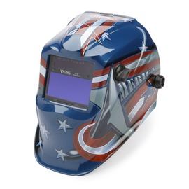 Lincoln Electric® VIKING® 1840 Red/White/Blue Welding Helmet With Variable Shades 9 - 13 Auto Darkening Lens, 4C® Lens Technology And All American® Graphic