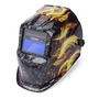 Lincoln Electric® VIKING® 1740 Grey/Red/Orange Welding Helmet With Variable Shades 9 - 13 Auto Darkening Lens And Ignition® Graphic