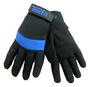 Tillman® Small Black And Blue TrueFit® Nylon And Spandex Full Finger Mechanics Gloves With Neoprene/Hook And Loop Cuff