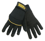 Tillman® Small Black TrueFit® Synthetic Leather Full Finger Mechanics Gloves With Neoprene/Hook And Loop Cuff