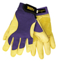 Tillman® Small Blue And Gold TrueFit® Deerskin And Spandex® Full Finger Mechanics Gloves With Elastic/Hook And Loop Cuff