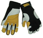 Tillman® Large Black, Pearl And Gold TrueFit® Goatskin And Spandex® Full Finger Mechanics Gloves With Elastic/Hook And Loop Cuff