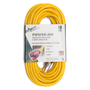 Direct™ Wire & Cable 50' NEMA 5-15R 12/3 AWG Yellow Single Outlet Standard Extension Cord With Lighted End
