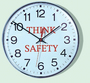 Accuform Signs® 12'' Black Hand And Red Sweep Second Hand Plastic Lens And Case Safety Message Wall Clock