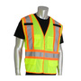 PIP® 2X Hi-Viz Yellow/Hi-Viz Orange Breathable Polyester/Mesh Two-Tone X-Back Breakaway Vest