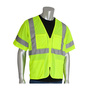 PIP® 2X Hi-Viz Yellow/Hi-Viz Orange Breathable Polyester/Mesh Two-Tone Value Vest
