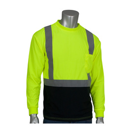 Protective Industrial Products 2X Hi-Viz Yellow/Hi-Viz Orange 1 Polyester/Birdseye Mesh Two-Tone Long Sleeve Shirt