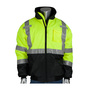 PIP® 2X Hi-Viz Yellow/ Polyester/Fleece Two-Tone Bomber Coat